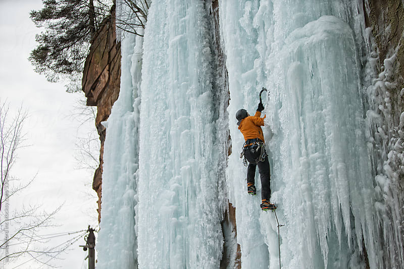Ice Climbers by aaronbelford inc for Stocksy United