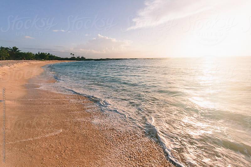 Beach sunset on tropical island by Alejandro Moreno de Carlos for Stocksy United