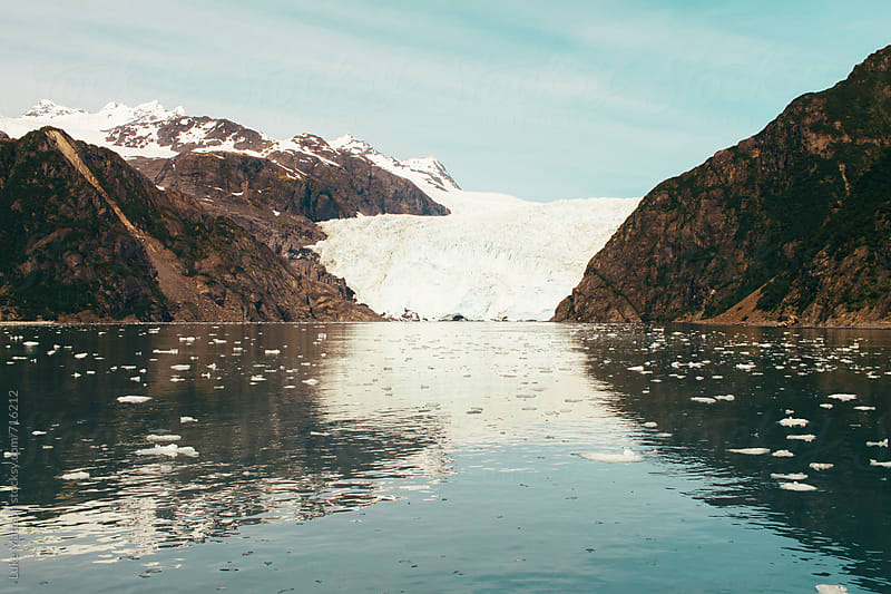 The Icy Toe Of Coastal Holgate Glacier Meets The Ocean Waters Of Aialik Bay by Luke Mattson for Stocksy United