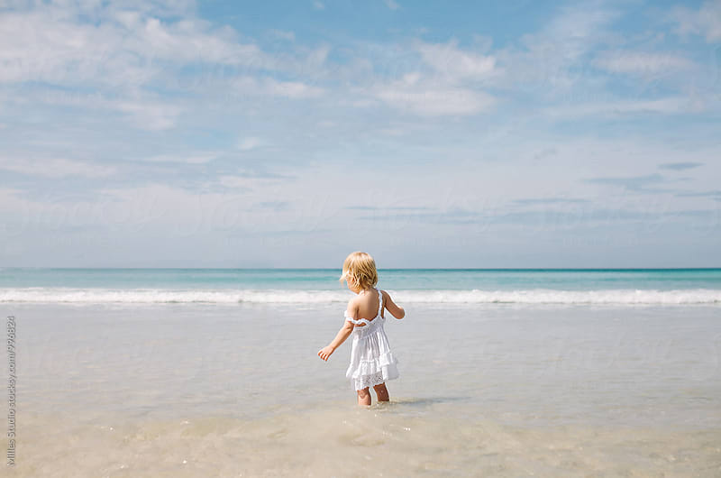 Girl at Beach by Milles Studio for Stocksy United