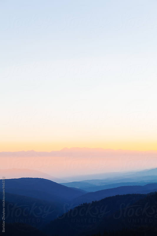 Beautiful Scenic Of Mountain Range by Borislav Zhuykov for Stocksy United