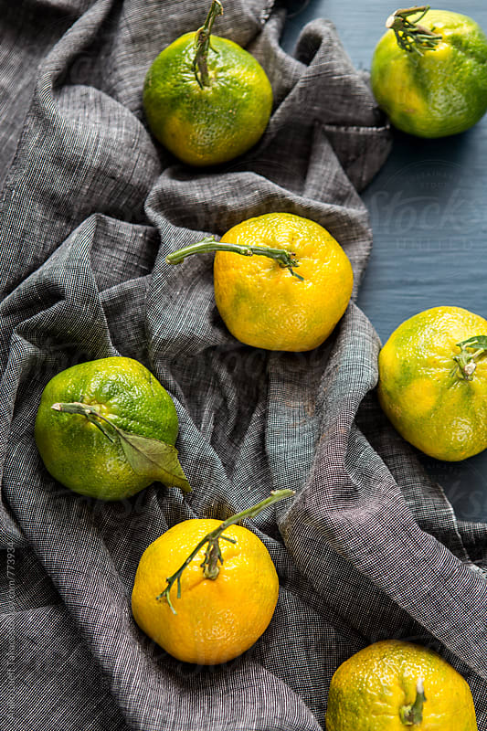 Fresh clementines  by Aniko Lueff Takacs for Stocksy United
