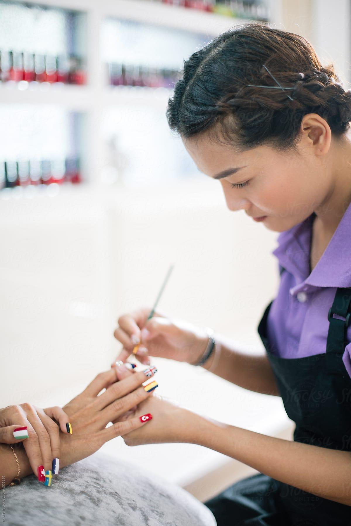 Asian nail salon