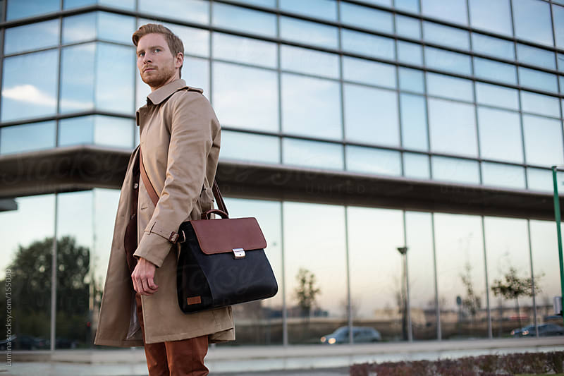 Young Businessman Outdoors by Lumina for Stocksy United