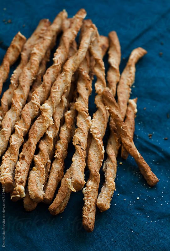 Wholemeal Cheese Straws by Dobránska Renáta for Stocksy United