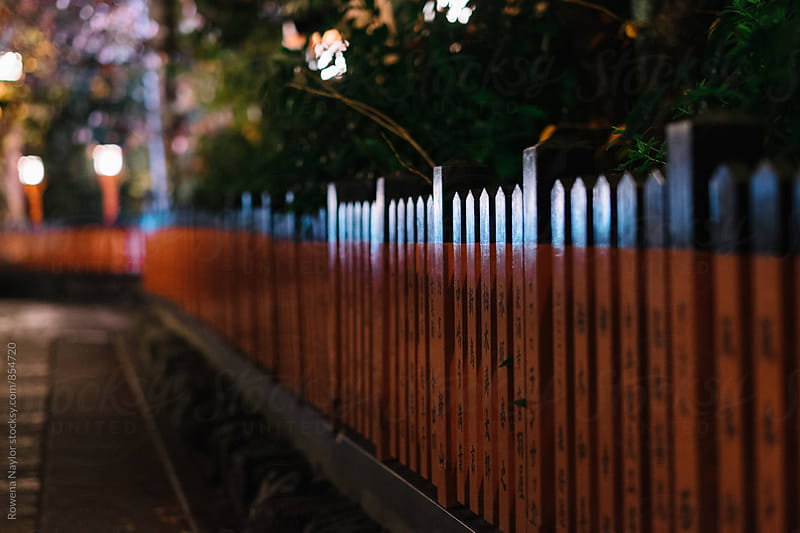 Laneway in Gion District, Kyoto by Rowena Naylor for Stocksy United