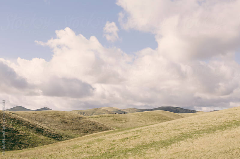 Rolling hills and blue sky by Melanie Riccardi for Stocksy United