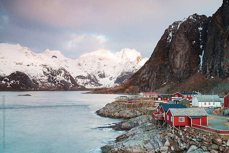 Cabins by the sea in Hamnoy, Lofoten Islands by Marilar Irastorza for Stocksy United