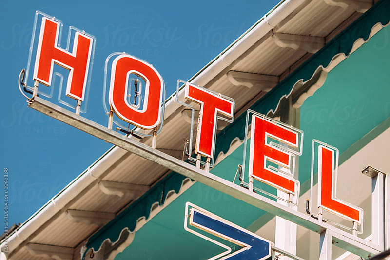 hotel,colorful banner by Igor Madjinca for Stocksy United