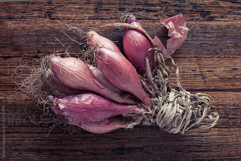 Organice Red Shallots by Rowena Naylor for Stocksy United