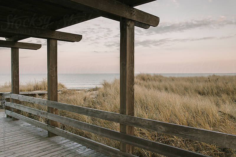 Salisbury Beach Boardwalk in Autumn by Raymond Forbes LLC for Stocksy United