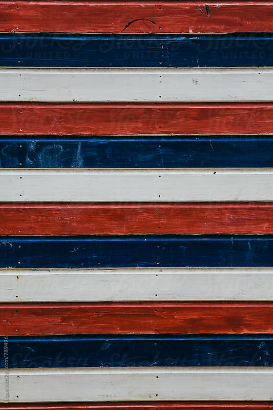 Painted stripes on a beach hut by kkgas for Stocksy United