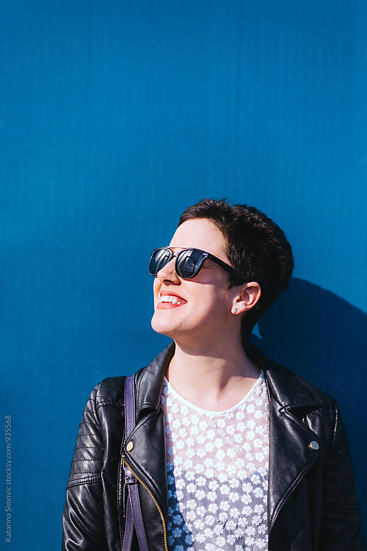Portrait of beautiful woman with sunglasses by Katarina Simovic for Stocksy United