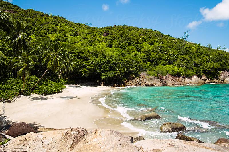 The beautiful beach of Anse Major on Mahé Island by michela ravasio for Stocksy United