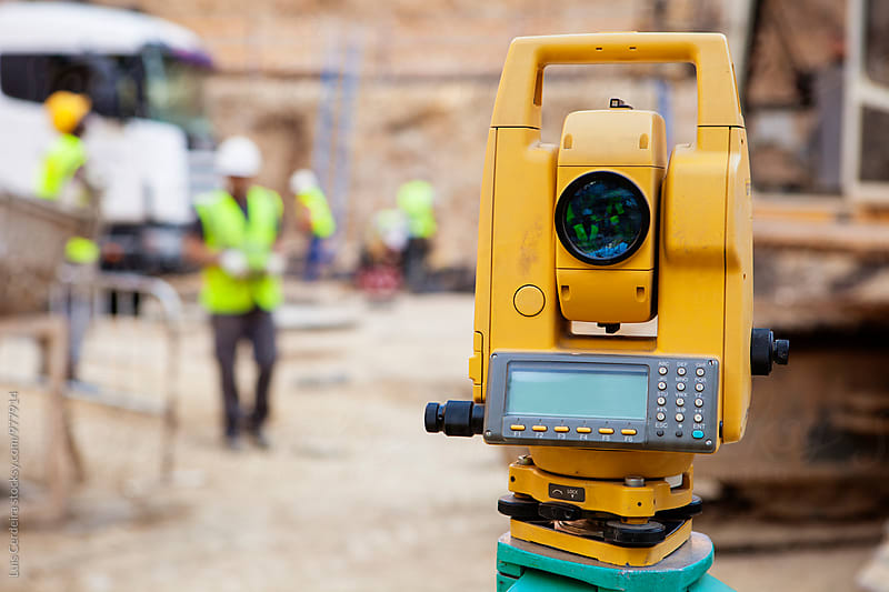 Construction theodolite by Luis Cerdeira for Stocksy United