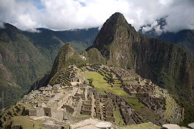 Machu Picchu: classic image of Machu Picchu, with Huayna Picchu rising behind by Ben Ryan for Stocksy United