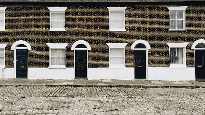 House fronts in South London by Kirstin Mckee for Stocksy United