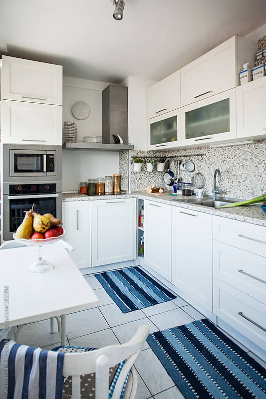 White Kitchen by Aleksandar Novoselski for Stocksy United