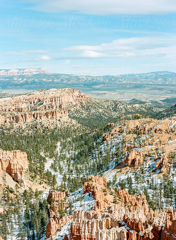 Snow Covered Bryce Canyon by Daniel Kim Photography for Stocksy United