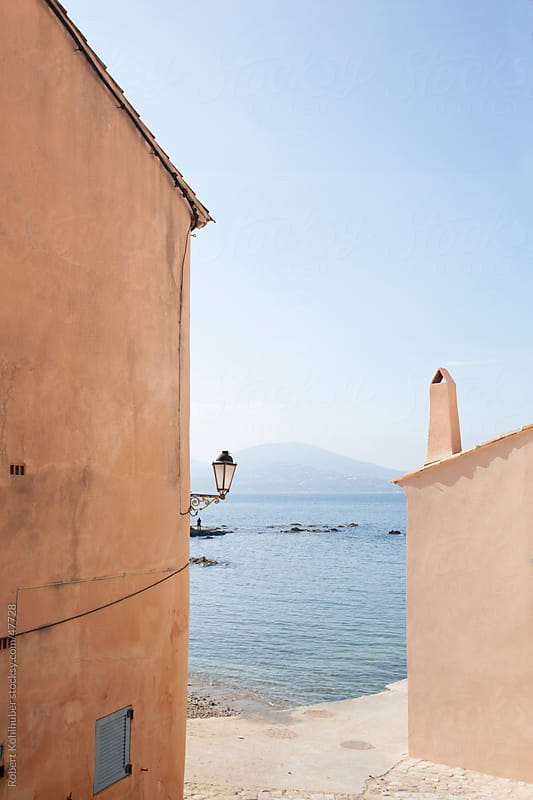 Old houses in St. Tropez at french coast by Robert Kohlhuber for Stocksy United