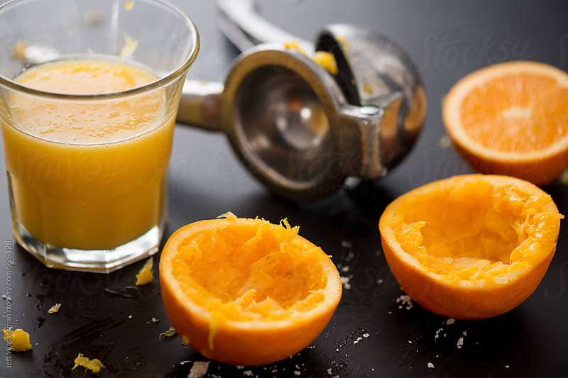Freshly Squeezed Orange Juice by Jeff Wasserman for Stocksy United