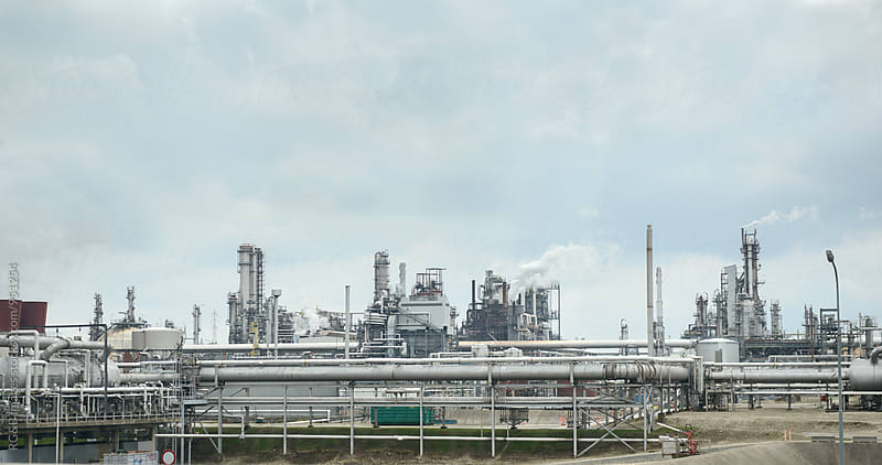 Oil refinery and petrochemical plant by RG&B Images for Stocksy United