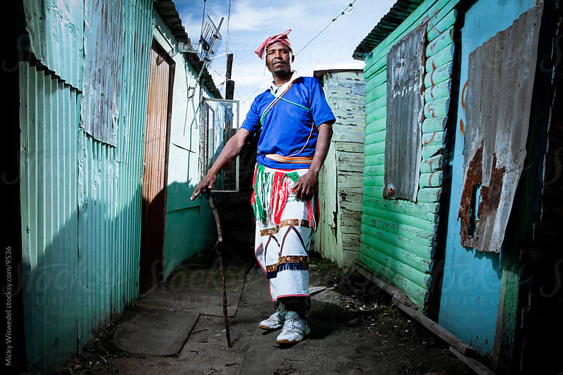 African Xhosa Township Man by Micky Wiswedel for Stocksy United