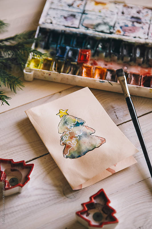 Handmade Christmas card by Danil Nevsky for Stocksy United