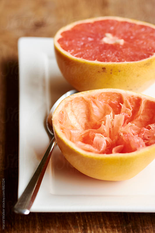 Grapefruit for breakfast by Harald Walker for Stocksy United