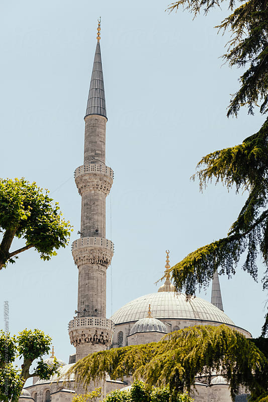 The Blue Mosque in Istanbul by Borislav Zhuykov for Stocksy United
