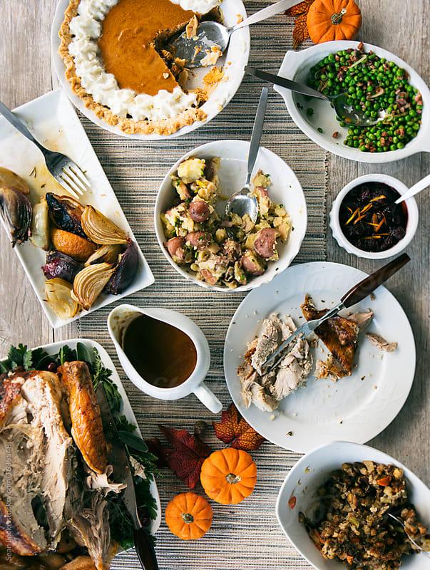 stock photo: eaten thanksgiving dinner