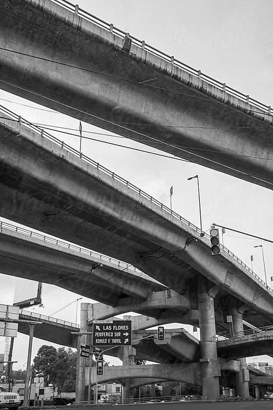 Inner city roads and overpasses in Mexico City by Per Swantesson for Stocksy United