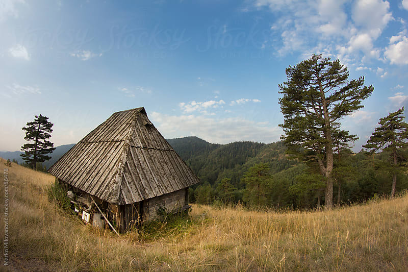 Old traditional house in mountains by Marko Milovanović for Stocksy United