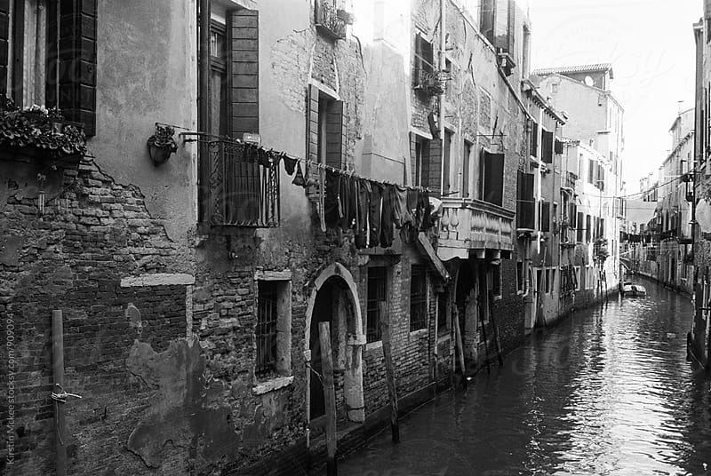 View down canal in Venice by Kirstin Mckee for Stocksy United