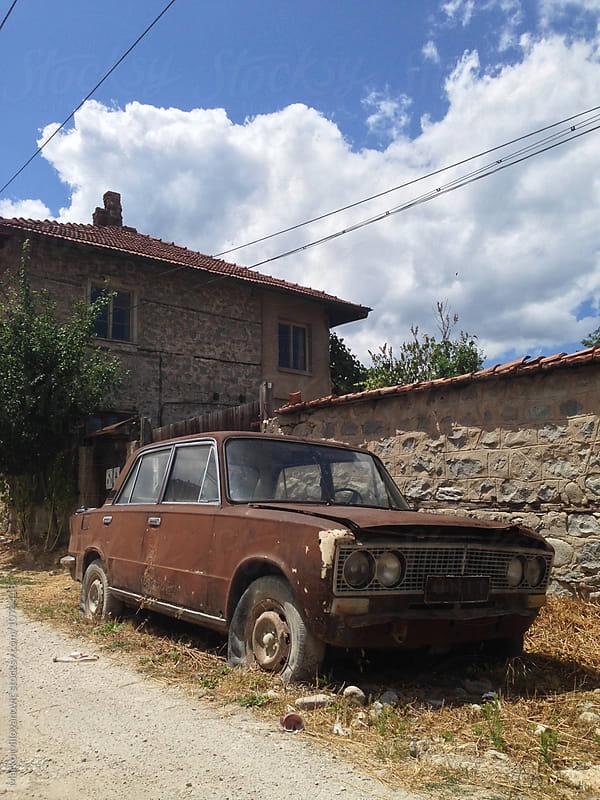 Old abandoned car by Marko Milovanović for Stocksy United