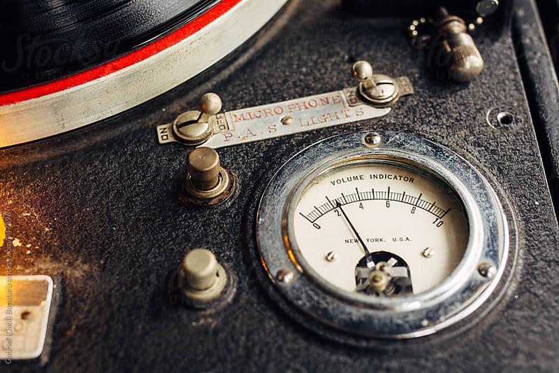 Old volume indicator on a record cutting machine by Gabriel (Gabi) Bucataru for Stocksy United