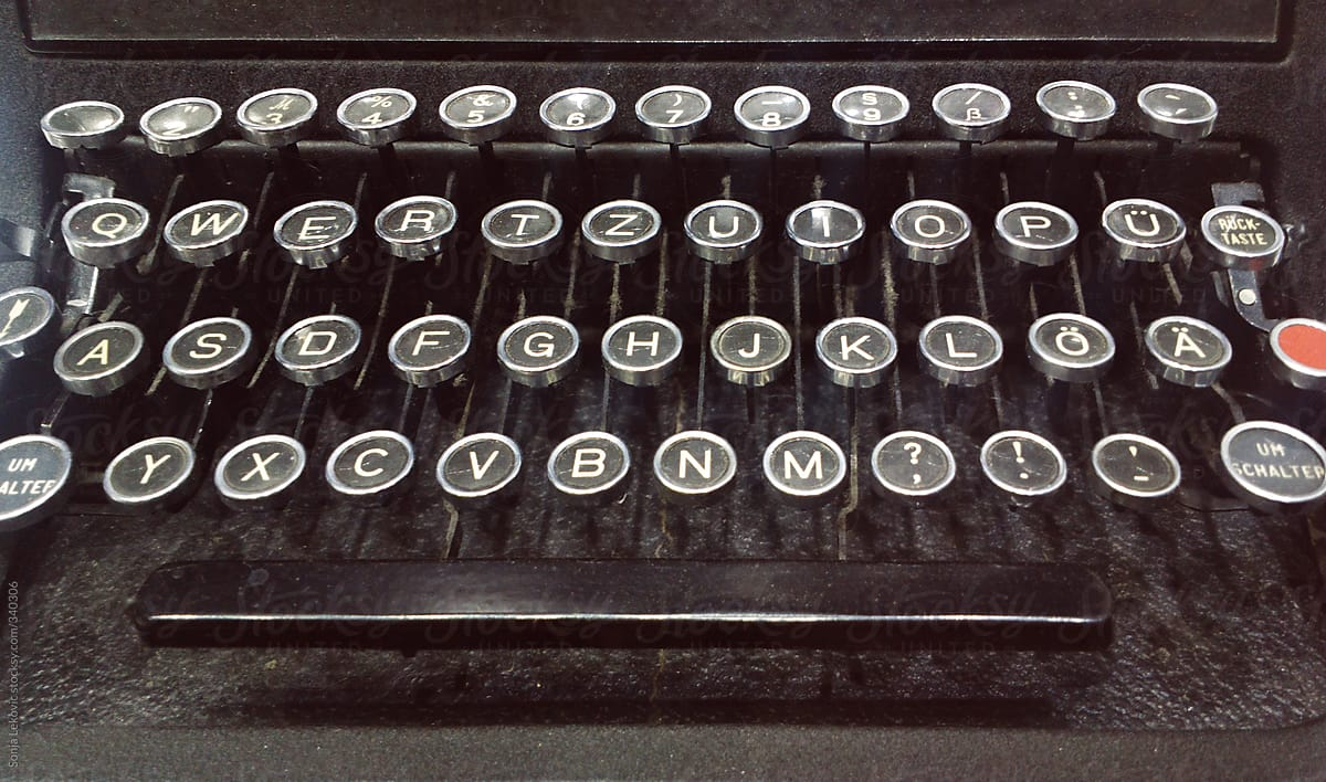 old typewriter letters stocksy united