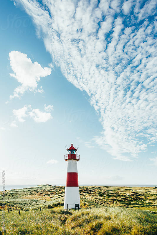 Lighthouse on Sunny Summer Morning (Sylt, Germany) by Julien L. Balmer for Stocksy United