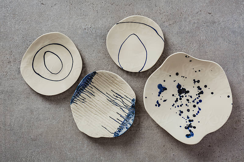 Artistic ceramic plates by Tatjana Ristanic for Stocksy United