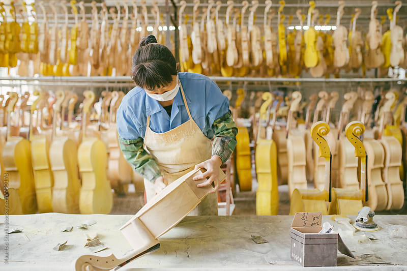 Violin maker by MaaHoo Studio for Stocksy United
