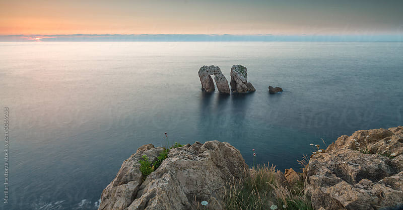 Spanish northern coast at sunset by Marilar Irastorza for Stocksy United