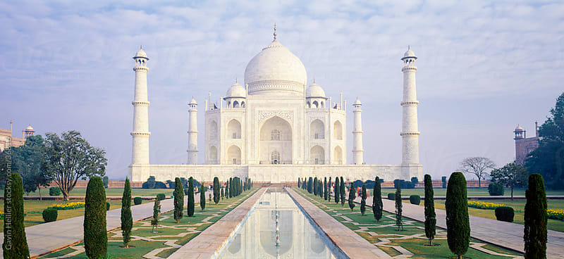 Taj Mahal, UNESCO World Heritage Site, Agra, Uttar Pradesh state, India, Asia by Gavin Hellier for Stocksy United