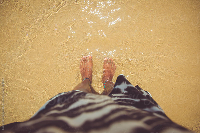 Feet in Water by Diane Durongpisitkul for Stocksy United