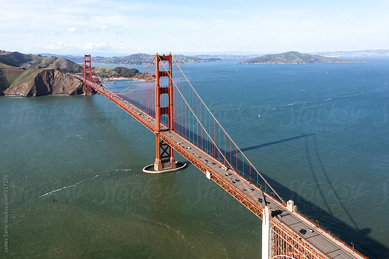 Golden Gate Bridge Aerial  by James Tarry for Stocksy United