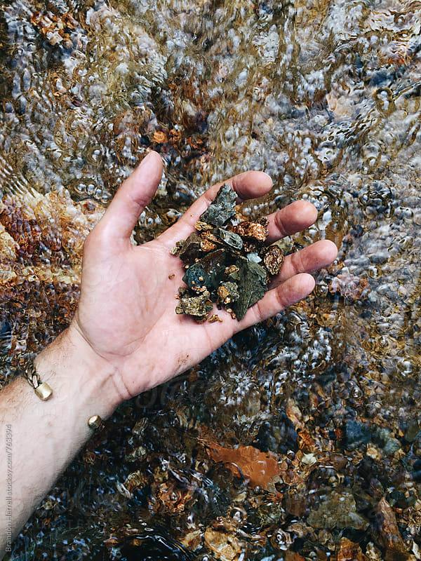 River Rocks. by Brandon Herrell for Stocksy United