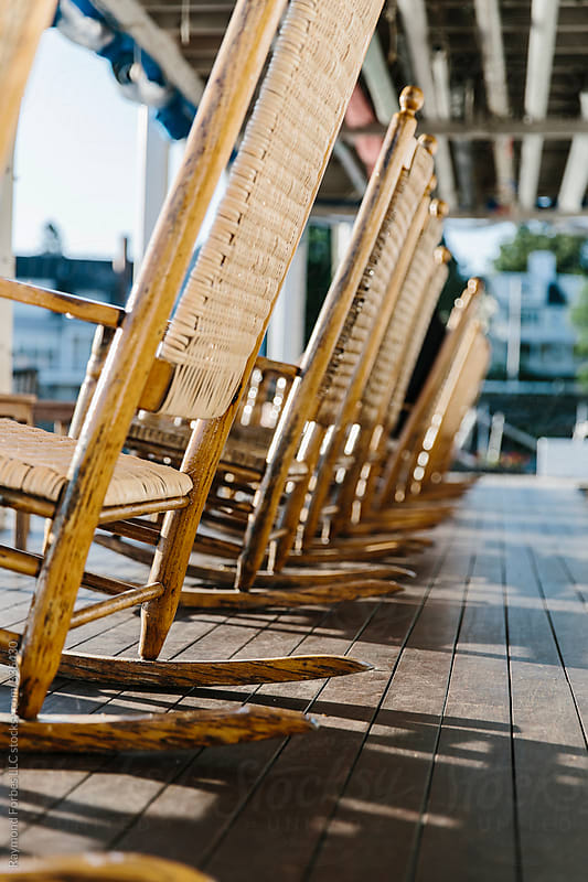 Waterfront Rocking Chairs by Raymond Forbes LLC for Stocksy United