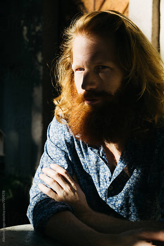 Portrait of a man with red beard by Alberto Bogo for Stocksy United
