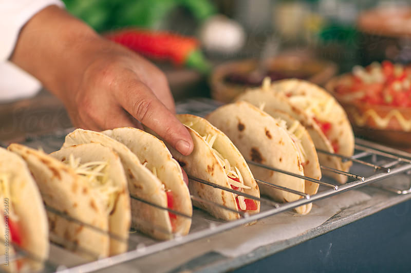 Chef Making Tacos by Lumina for Stocksy United