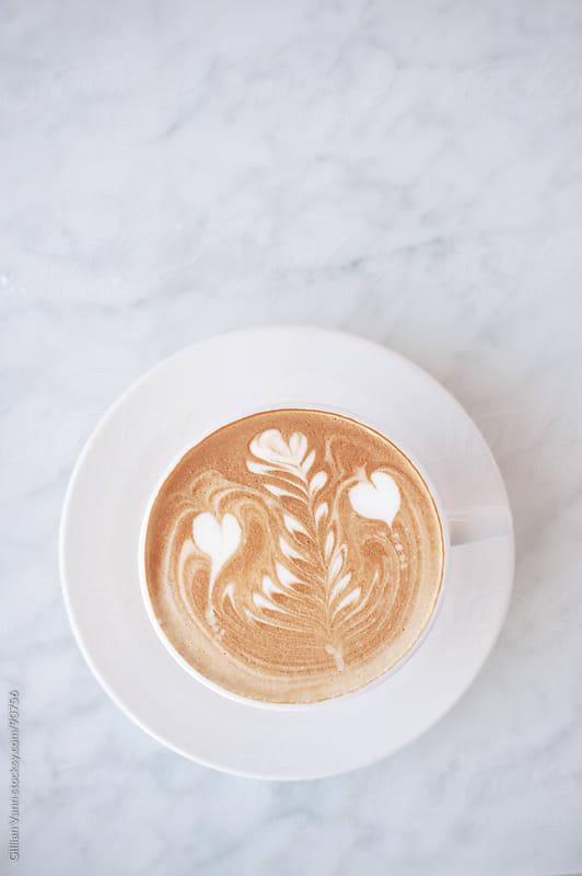 flat white coffee by Gillian Vann for Stocksy United