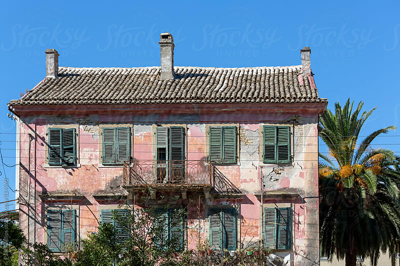 Old venetian building fallen into disrepair, Corfu Greece. by Paul Phillips for Stocksy United